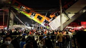 Sập cầu vượt đường sắt trên cao ở Mexico, ít nhất 85 người thương vong