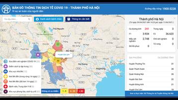Hà Nội ra mắt Bản đồ thông tin dịch tễ phục vụ phòng chống COVID-19