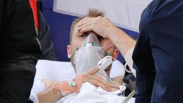 Eriksen ổn định sức khỏe khi nhập viện