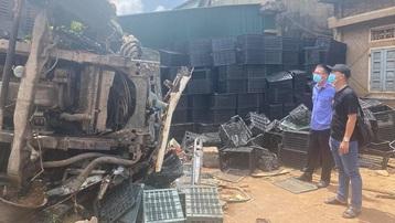 Đắk Lắk: Tai nạn liên hoàn do xe tải mất phanh