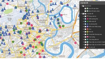 TP.HCM ra mắt bản đồ hỗ trợ phòng chống dịch Covid-19
