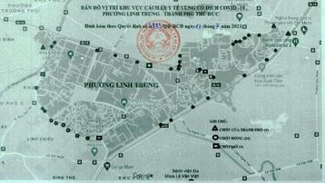 Từ 0 giờ ngày 18/7, thành phố Thủ Đức thiết lập phong tỏa toàn bộ 2 phường Linh Trung và Tam Bình