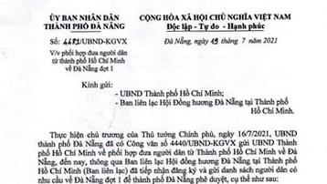 Đà Nẵng đón người dân từ thành phố Hồ Chí Minh trở về trên 3 chuyến bay miễn phí