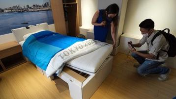 Giường làm từ bìa cho vận động viên ở Olympic Tokyo
