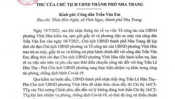 Vụ bánh mì không phải hàng thiết yếu: Chủ tịch UBND TP. Nha Trang xin lỗi công dân