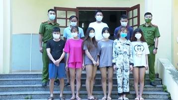 Hoà Bình: Bắt nhóm thanh niên tổ chức sử dụng ma túy trong nhà nghỉ