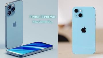 Trước ngày ra mắt, iPhone 13 lộ concept màu 'ocean blue' giống hệt hint trên thư mời?