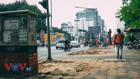 Di chuyển, đốn chặt 40 cây xanh trên phố Trần Hưng Đạo, Hà Nội