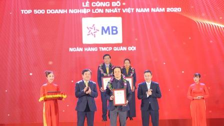 MB ghi danh Top 30 doanh nghiệp lớn nhất Việt Nam
