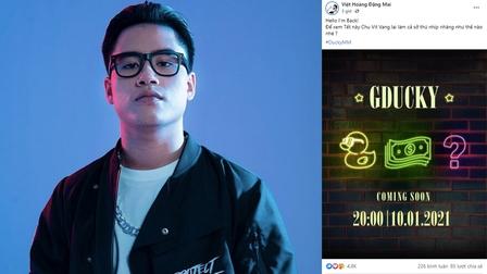 Hậu Rap Việt, GDucky chính thức tung poster 'nhá hàng' sản phẩm mới, loạt thí sinh cùng HLV Karik đều hưởng ứng mạnh mẽ