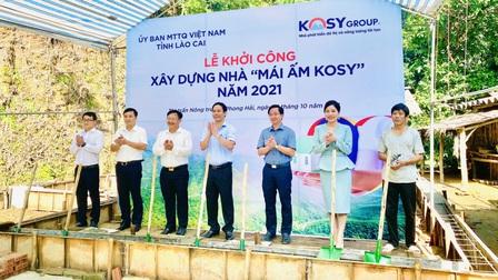 Tập đoàn Kosy ủng hộ 10 tỷ đồng xây dựng 200 ngôi nhà cho hộ nghèo tại Lào Cai