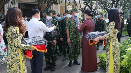 TP.HCM tri ân và chia tay lực lượng quân sự tham gia chống dịch
