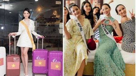 Ái Nhi tươi tắn ở Hoa hậu Liên lục địa dù bị giữ hành lý vì nghi buôn lậu