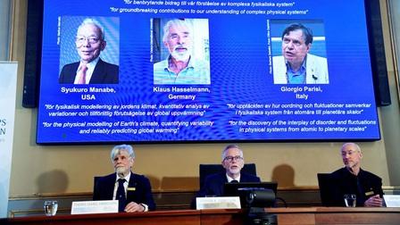 Giải thưởng Nobel Vật lý 2021 tôn vinh các nghiên cứu đột phá từ khí hậu, nguyên tử tới hành tinh