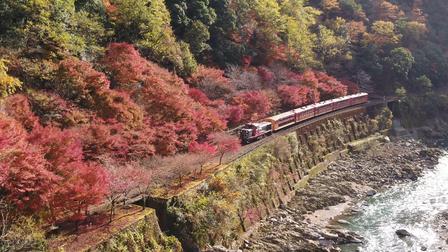 12 Nét Đẹp Vùng Kansai Nhật Bản: Tàu Sagano Torokko