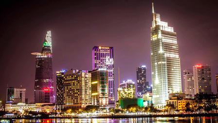 Các công trình nổi tiếng ở TPHCM giữa trời đêm