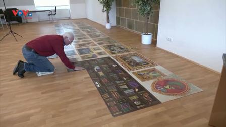 Đức: Hoàn thành bức tranh từ 54.000 mảnh ghép