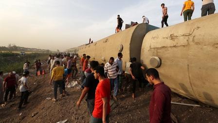 Lại lật tàu hỏa thảm khốc tại Ai Cập, ít nhất 11 người thiệt mạng