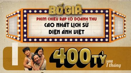 'Bố già' chính thức cán mốc doanh thu 400 tỷ sau một tháng công chiếu