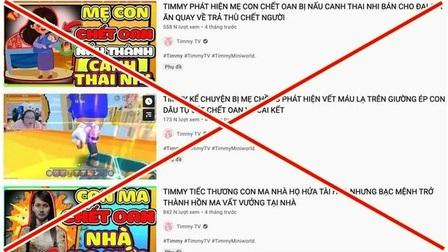 'Xóa sổ' kênh YouTube trẻ em có chứa nội dung độc hại, rùng rợn….