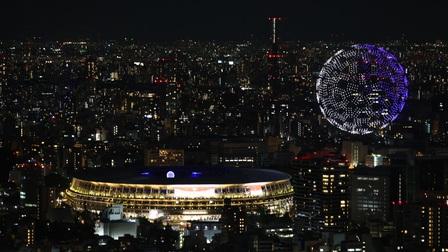 Màn trình diễn drone kỳ ảo trong lễ khai mạc Olympic Tokyo 2020