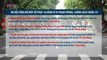 Hà Nội công bố mức xử phạt 16 hành vi vi phạm phòng, chống dịch COVID-19