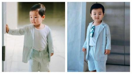 Nghỉ dịch ở nhà, Hòa Minzy lên đồ cho con trai như 'tổng tài' nhưng chỉ để làm một việc