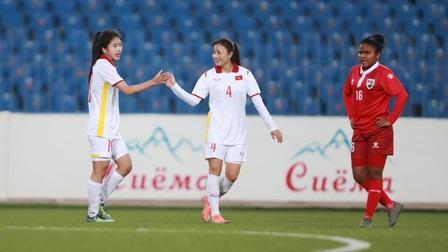 Đội tuyển nữ Việt Nam dội 'mưa gôn' 16 bàn vào lưới Maldives
