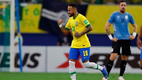 Neymar cùng hàng công thăng hoa, Brazil vùi dập Uruguay