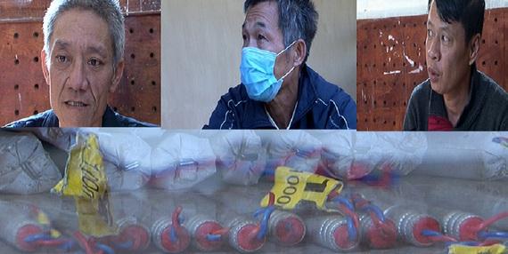 Lai Châu: Bắt 3 đối tượng mua bán trái phép 13kg thuốc nổ