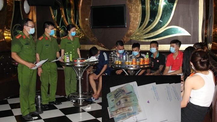 Nhóm đối tượng tụ tập 'bay lắc' tại quán karaoke giữa lúc dịch bệnh hoành hành