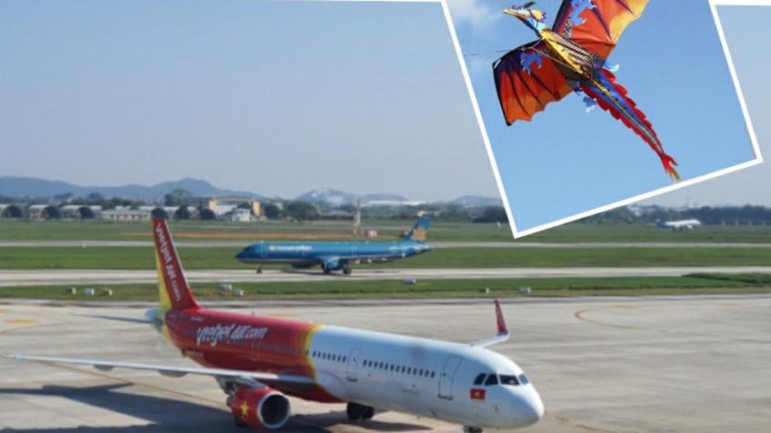 Hàng không lo mất an toàn do liên tục phát hiện diều tại sân bay